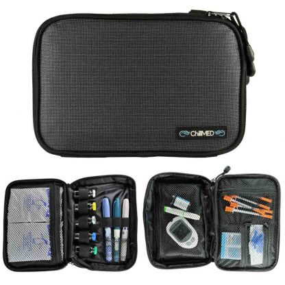 Gray Chillmed Elite Slate Front View with Two Examples of Open Bags