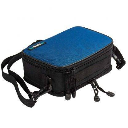Blue Chillmed Elite 2 Closed laying down with Strap