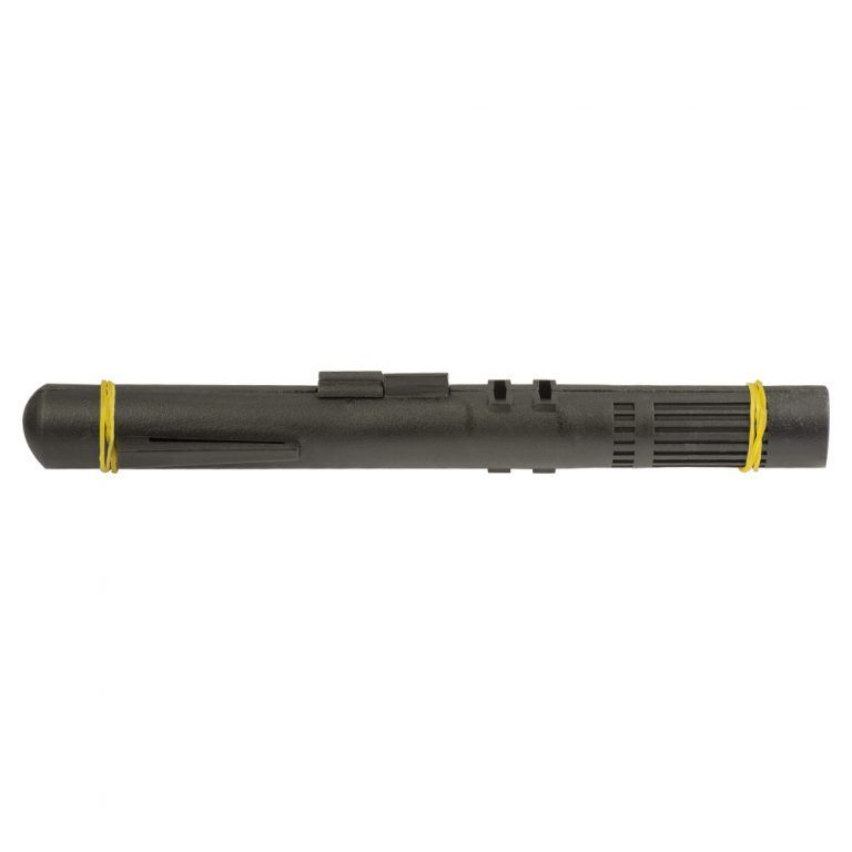 GMS Prefilled Syringe Case (Black) Opened Closed with rubber bands