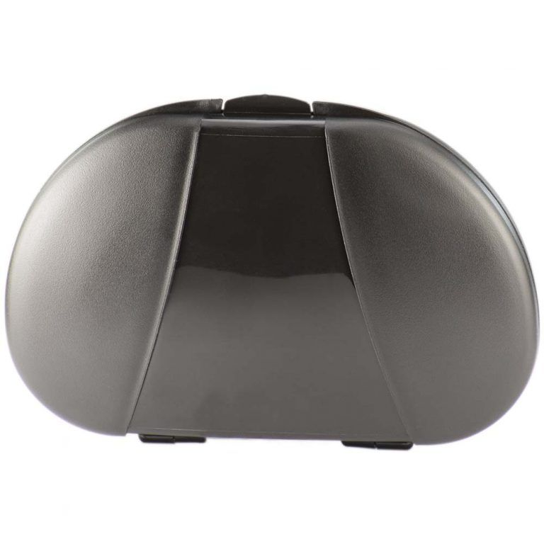 Black Vita Carry Large Medication Case Opened and Filled Empty Front Facing Closed