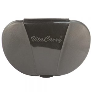 Black Vita Carry Pocket Clamshell Case Closed Front Facing