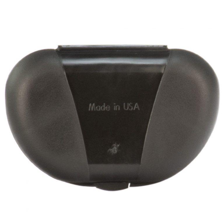 Black Vita Carry Pocket Clamshell Case Closed Back Facing