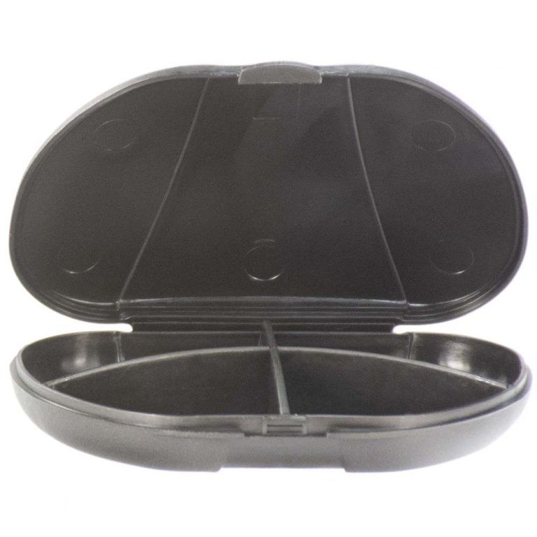 Black Vita Carry Pocket Clamshell Case Open and Empty