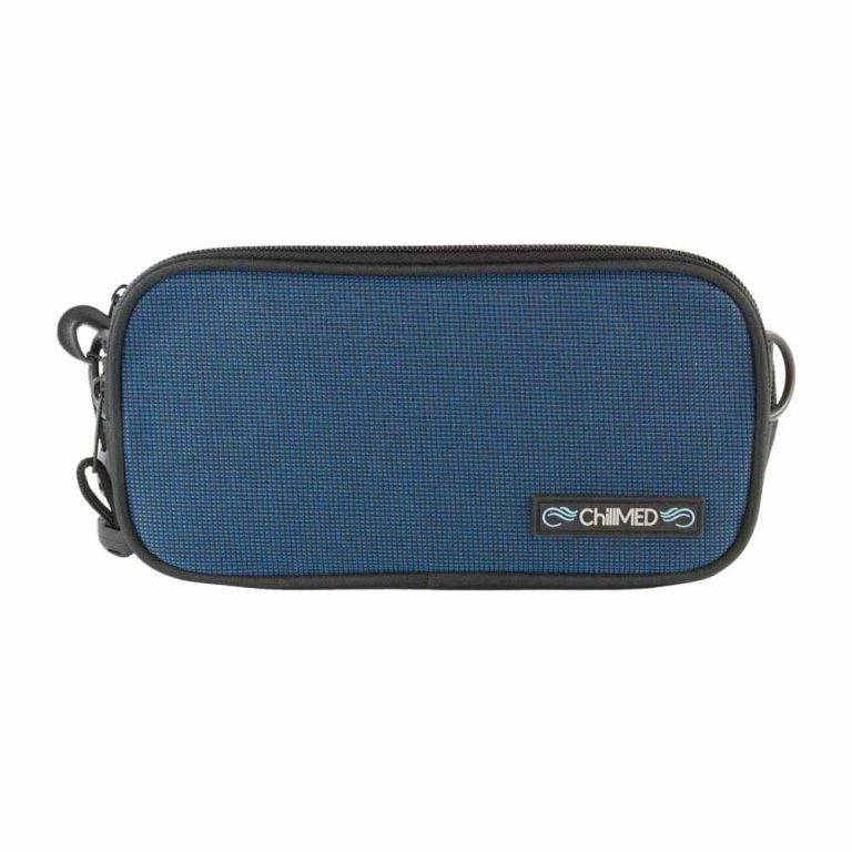 Blue ChillMED Carry-All Diabetic Bag Front View