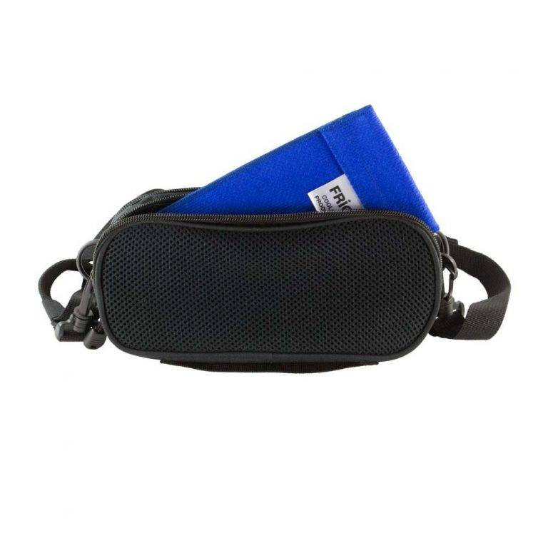 Blue ChillMED Carry-All Diabetic Bag With Cold Pax inside the bag