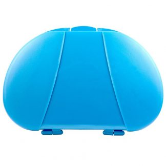 Blue Vita Carry Large Medication Case Opened and Filled Empty Front Facing Closed