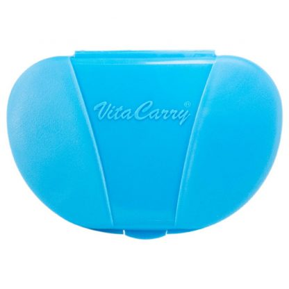 Blue Vita Carry Pocket Clamshell Case Closed Front Facing
