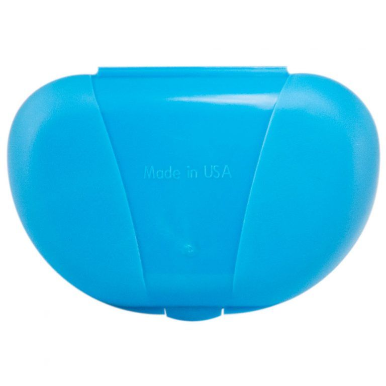 Blue Vita Carry Pocket Clamshell Case Closed Back Facing