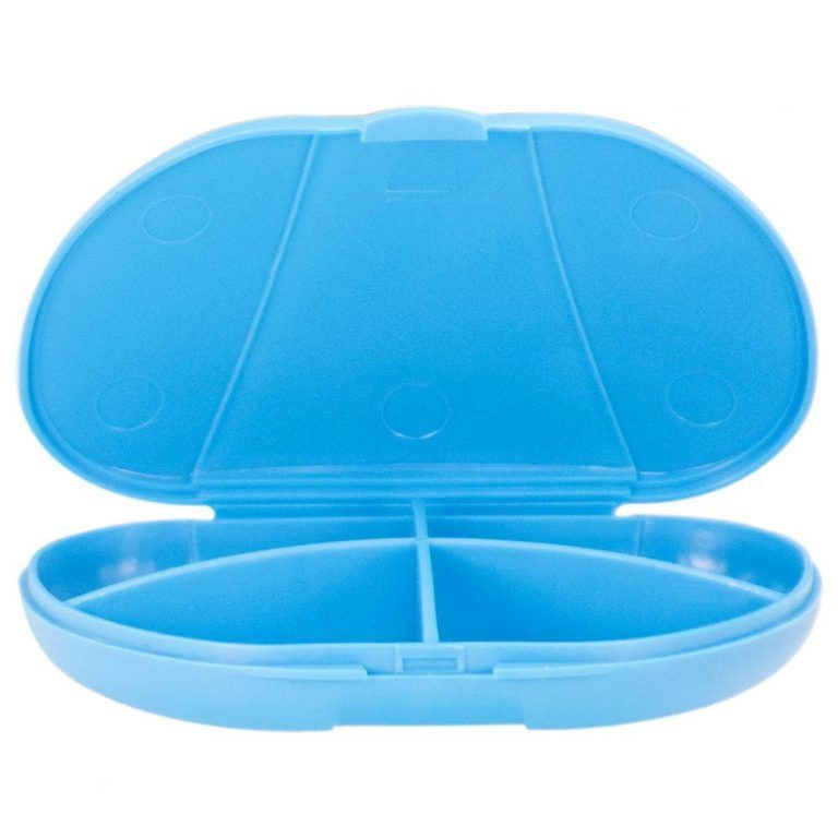 Blue Vita Carry Pocket Clamshell Case Open and Empty