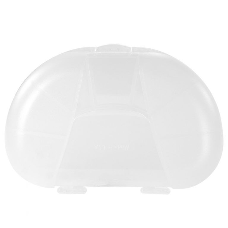 Clear Vita Carry Large Medication Case Opened and Filled Empty Back Facing Closed