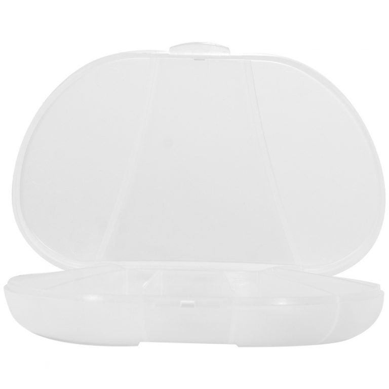 Clear Vita Carry Large Medication Case Opened and Filled Empty Front Facing Open and empty
