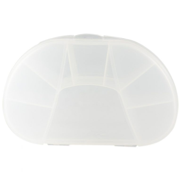 Clear Vita Carry Large Medication Case Opened and Filled Empty Front Facing
