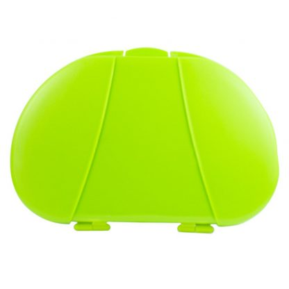 Green Vita Carry Large Medication Case Opened and Filled Empty Front Facing Closed