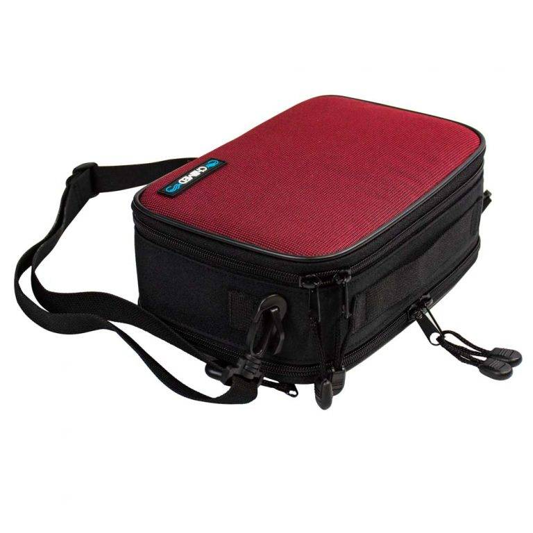 Red Chillmed Elite 2 Closed laying down with Strap