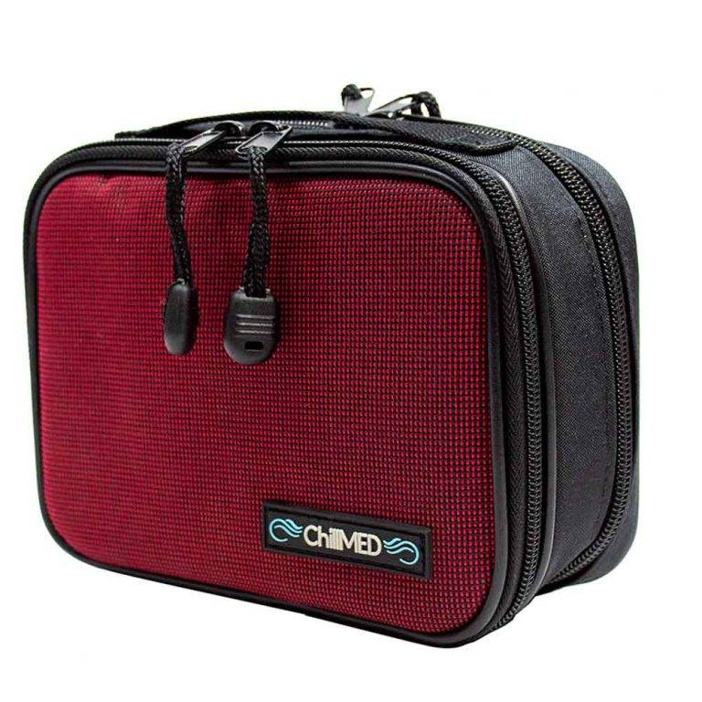 Red Chillmed Type 1 Insulin Bag Side View