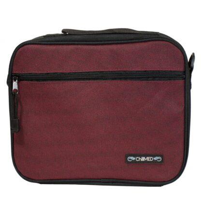 Red ChillMED Premier Diabetic Travel Bag Front Facing