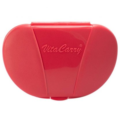 Red Vita Carry Pocket Clamshell Case Closed Front Facing