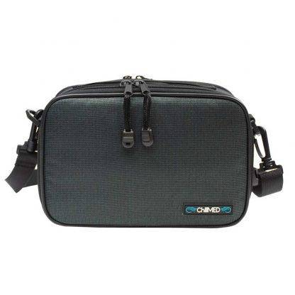 Slate Chillmed Elite Bag facing forward. Zippers are visible with the strap on either side.