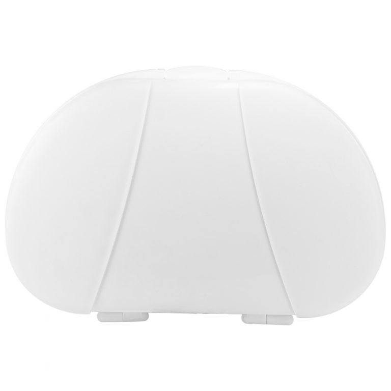 White Vita Carry Large Medication Case Opened and Filled Empty Front Facing Closed