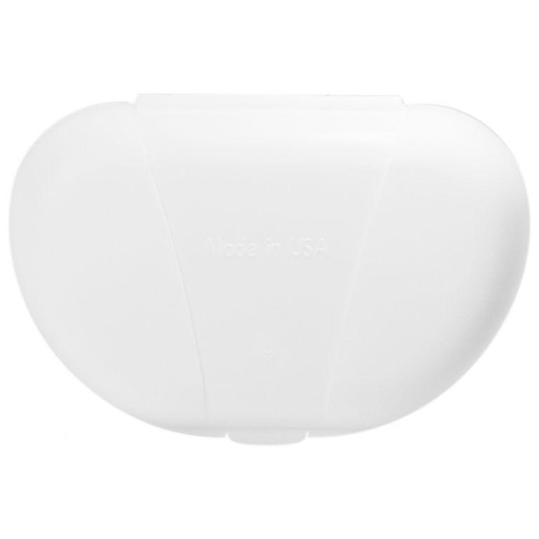 White Vita Carry Pocket Clamshell Case Back Facing