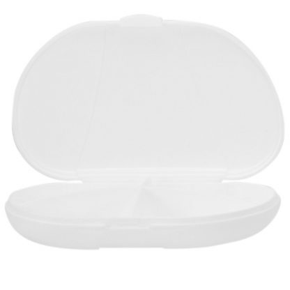 White Vita Carry Pocket Clamshell Case Open and Empty
