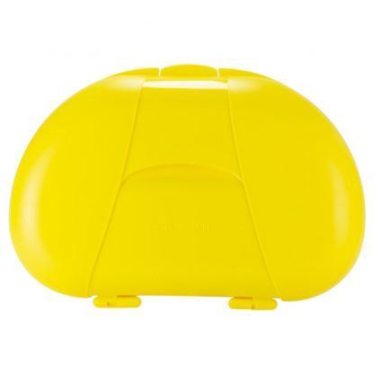 Yellow Vita Carry Large Medication Case Closed Back Facing