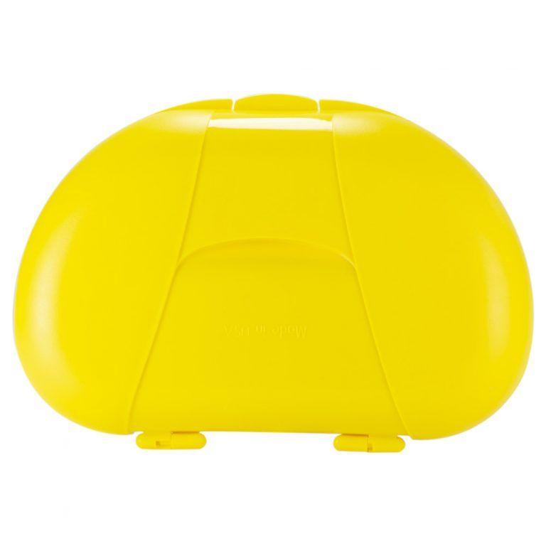 Yellow Vita Carry Large Medication Case Closed Back Facing