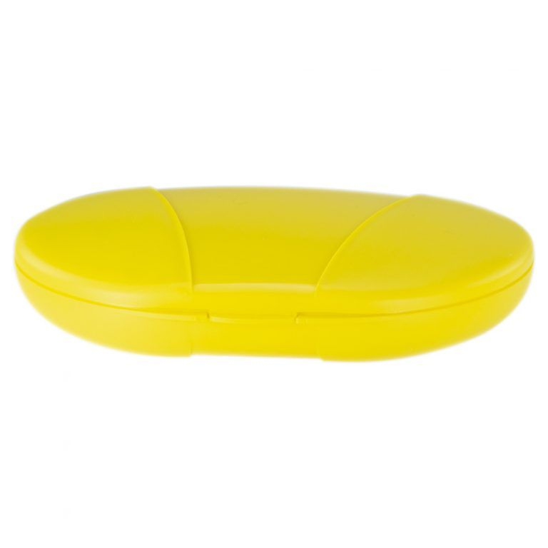 Yellow Vita Carry Large Medication Case Closed Front Facing Flat