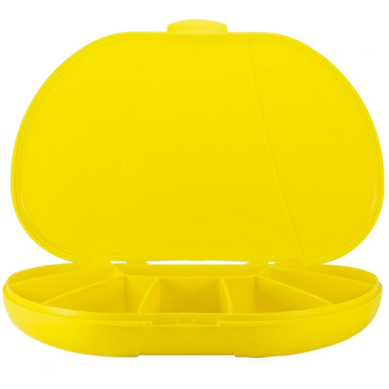 Yellow Vita Carry Large Medication Case Closed Front Facing empty