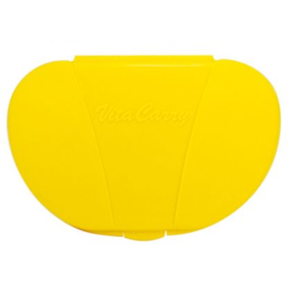 Yellow Vita Carry Pocket Clamshell Case Closed Front Facing