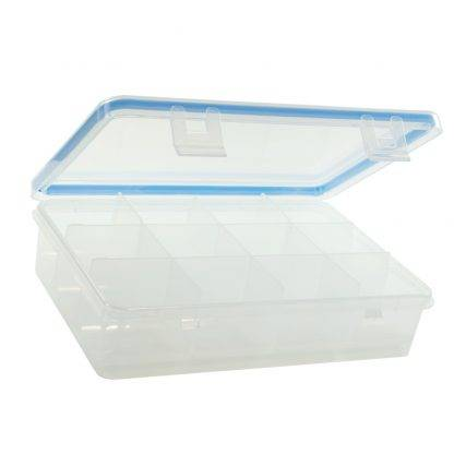 GMS 12 Compartment Pill and Vitamin Organizer Open and Empty