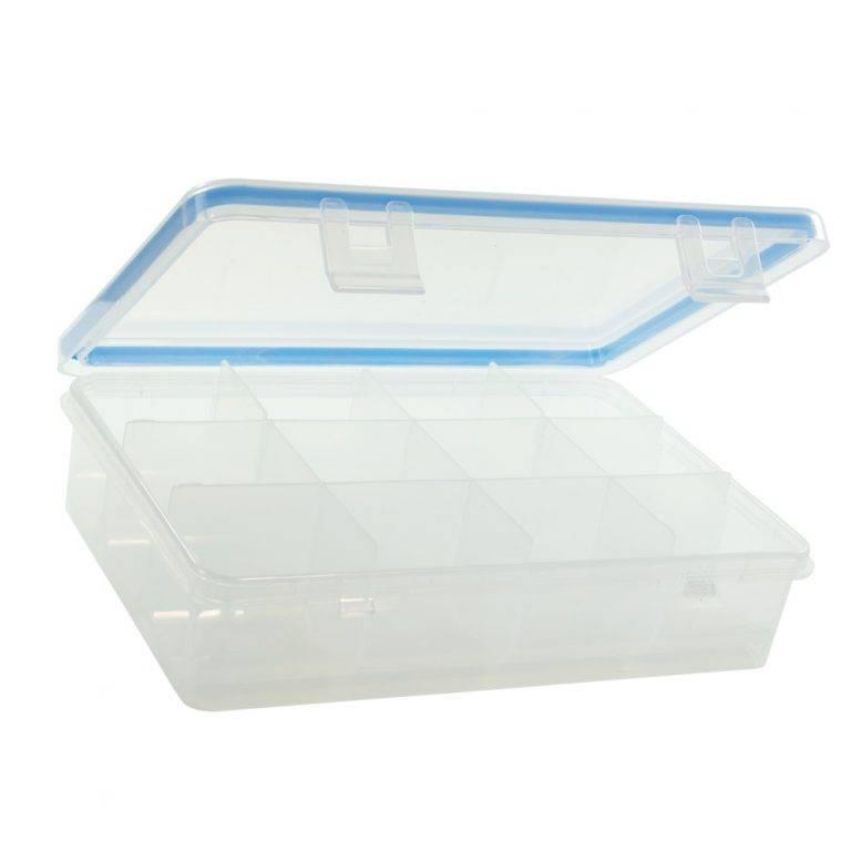 GMS 12 Compartment Pill and Vitamin Organizer Open and Empty