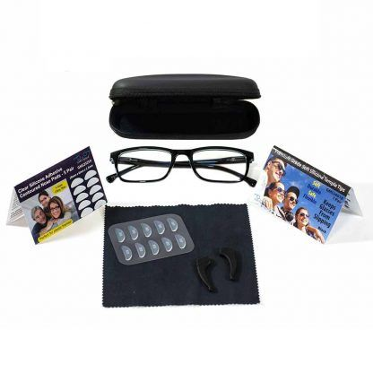 GMS Blue Light Blocking Glasses Glasses with Nosepads, Temple Tips, Microfiber cloth, and Hard Case