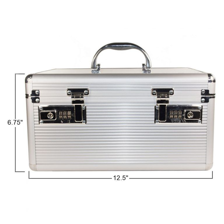 GMS Vitavault Medicine Lock Box with measurements 12.5 inches by 6.75 inches