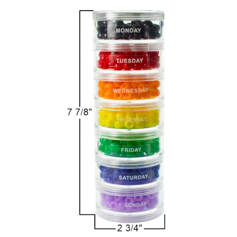 Weekly Container Travel Tower Stackables Medication Storing