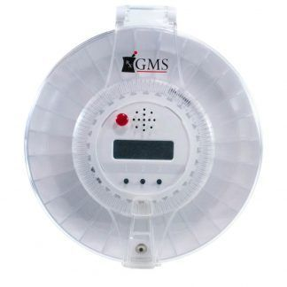 GMS Med-e-lert 28 Day Automatic Pill Dispenser front facing