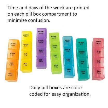 GMS 4x/Day Gasket Pill Organizer With the Individual Cases out