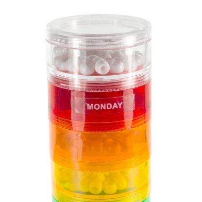 Daily Labeled Separately Container Travel Tower Stackable