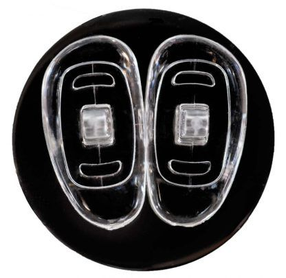 GMS Optical D-Shape Screw-In Nose Pads (15mm) Above View