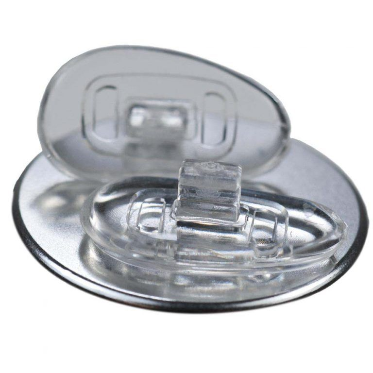 GMS Optical D-Shape Push-In Nose Pads (15mm - 1 Pair) Side View