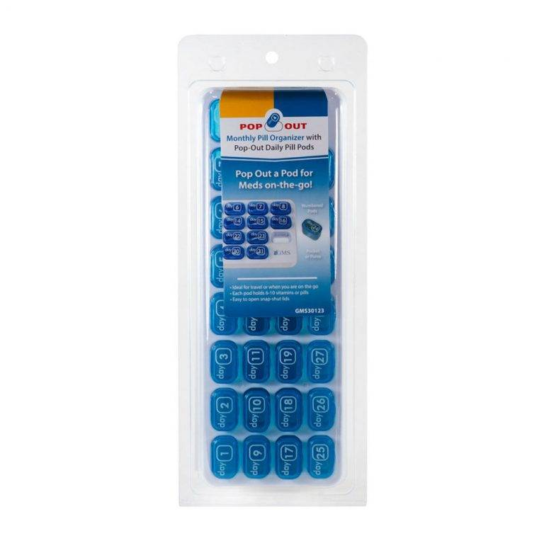 GMS Pop Out 31 Day Pill Organizer in Package