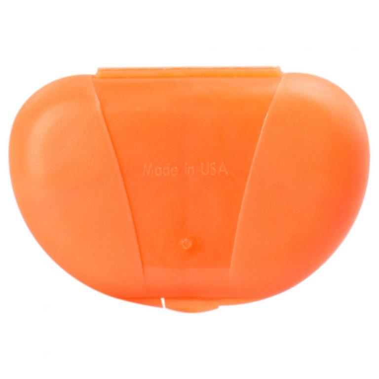 Orange Vita Carry Pocket Clamshell Case Closed back Facing