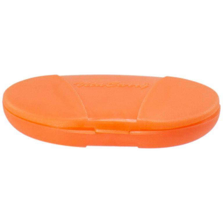 Orange Vita Carry Pocket Clamshell Case Closed Flat