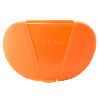 Orange Vita Carry Pocket Clamshell Case Closed Front Facing