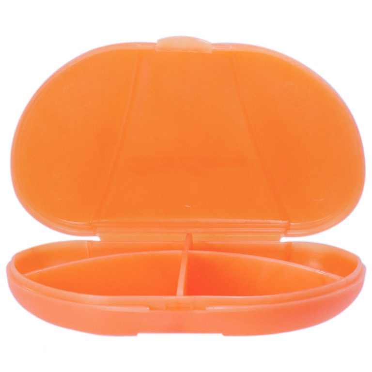 Pastel Orange Vita Carry Pocket Clamshell Case Open and Empty