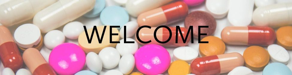 Pill Background with Welcome Written on it, shows a step toward health