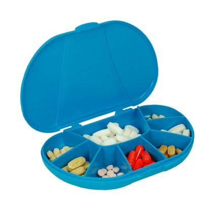 Blue vita carry, vitacarry, pill case, pill box, vitamin box, vitamin organizer (2 of 4)