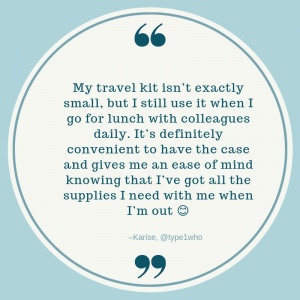 Quote From Karise about her travel kit