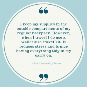 quote about a travel kit