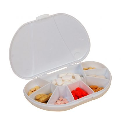 White vita carry, vitacarry, pill case, pill box, vitamin box, vitamin organizer (1 of 1)-2 - Copy